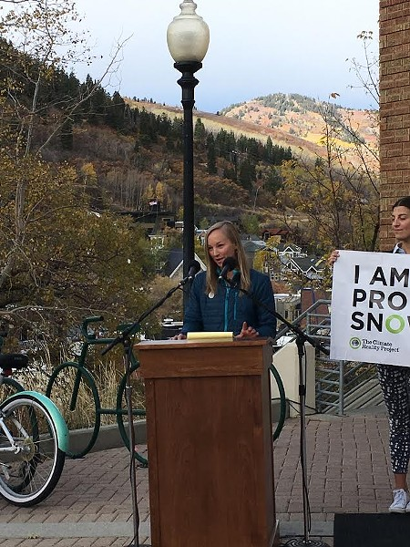 """Ski seasons are becoming unpredictable,"" McKenna Peterson said. - DW HARRIS"