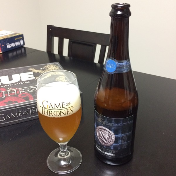 A bit of the Belgian Style Triple Ale, Valar Dohaeris.