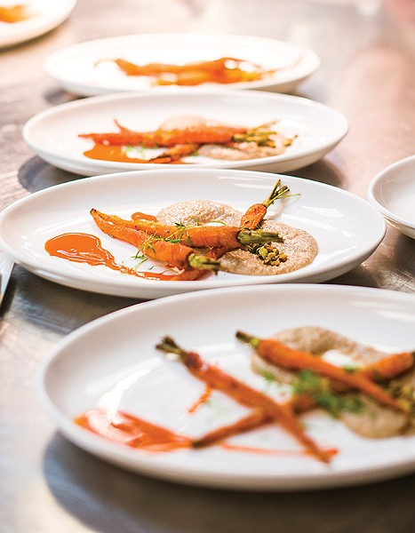 Chef Zane Holmquist's roasted carrots. - TRINA HARRIS