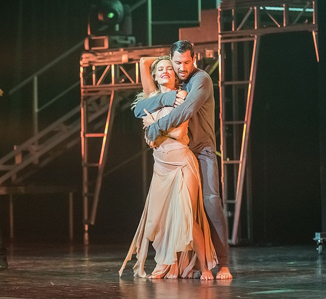 Peta Murgatroyd and Maks Chmerkovskiy perform in Maks, Val & Peta Live on Tour: Confidential - MIKE WILLIAMS