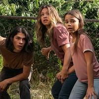 Lucius Hoyos, Gina Rodriguez and Ariana Greenblatt in Awake