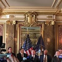 Sen. Mike Lee, R-Utah, at Monday's press conference.