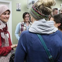 Maysa Malas-Kergaye offered insights into women's rights and the use of the hijab.