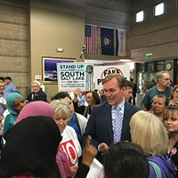 Constituents give a piece of their mind to Salt Lake County Mayor Ben McAdams on Tuesday, March 21.