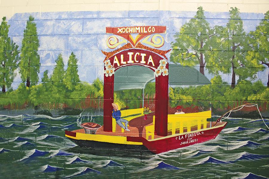 """Xochimilco"" mural at Salt Lake's Indoor Swap Meet, artist unknown - ENRIQUE LIMÓN"