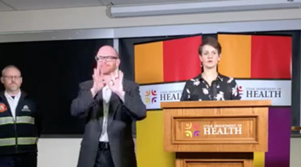 State Epidemiologist Angela Dunn, right. - VIA FACEBOOK/UTAH DEPT. OF HEALTH