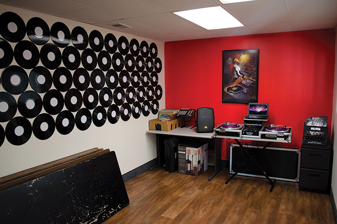 The HERC DJ room - THE HERC