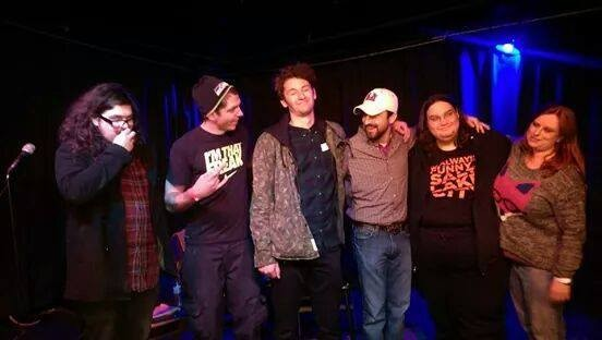 Holiday Bloodbath Show, Dec 2014 at Muse Music in Provo. (L-R)  Aaron, David Mast, Wallace Fetzer, Ryan Olds, Nick & Melissa Merlot
