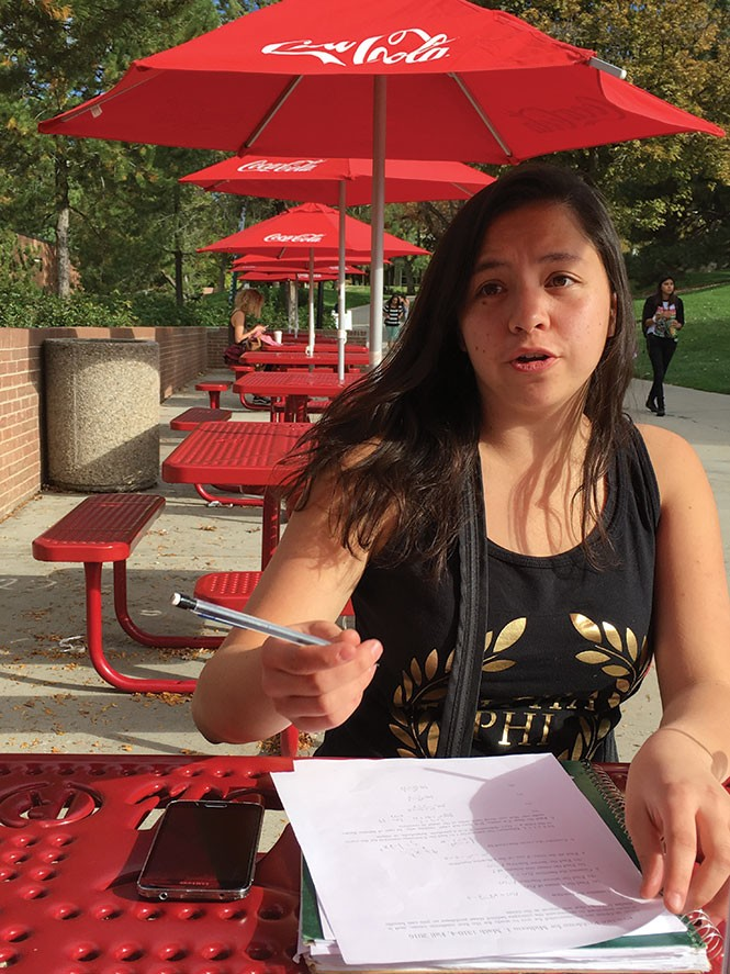 University of Utah freshman Constance Caparas. - DW HARRIS