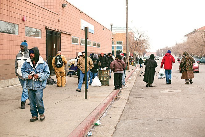 Salt Lake City's homeless shelter on Rio Grande St. - FILE/ANDY FILMORE