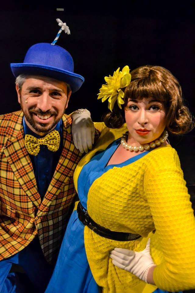 Mr. Mayor (David Sullivan) with Mrs. Mayor (Hailey Margetts) in Seussical. Photo Credit: - DEANNE JONES