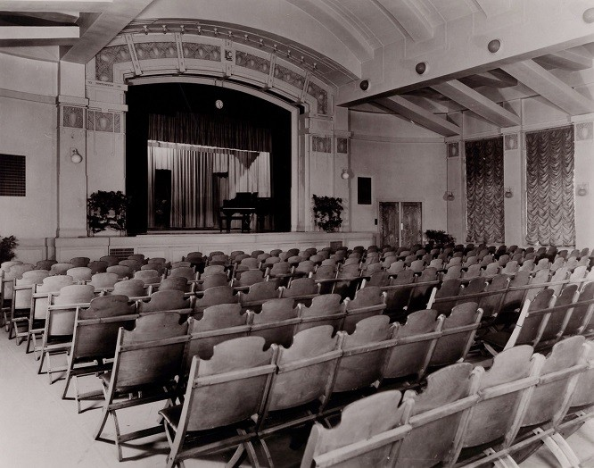 1937 photo of Auditorium_Ladies' Literary Club House.1937 - SPECIAL COLLECTION DEPT. MARRIOTT LIBRARY
