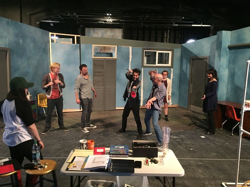 Cast and crew rehersal. - SLAC