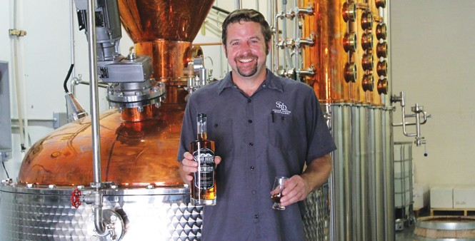 Eric Robinson, master distiller at Sugar House Distillery - DARBY DOYLE