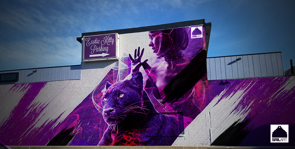Rendering of what the Exotic Kitty mural was intended to look like. - COURTESY OF THE ARTIST