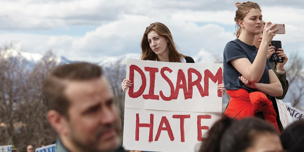 SLC's March for Our Lives drew an estimated 8,000 supporters to the Capitol. - SARAH ARNOFF
