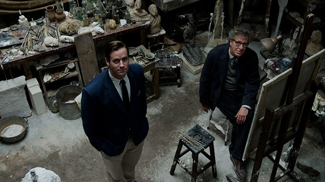 Armie Hammer and Geoffrey Rush in Final Portrait - SONY PICTURES CLASSICS