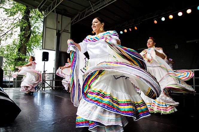 Ballet Folklorico performs at 2016 Living Traditions Festival. - DAVID VOGEL