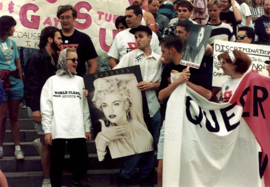 SLC Pride '91 attendees strike a festive pose. - CONNELL O'DONOVAN
