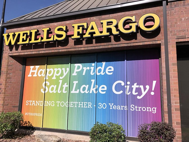 More than 40 people signed a letter to local Pride leadership asking them to cut ties with Wells Fargo and Chase Bank. - KELAN LYONS