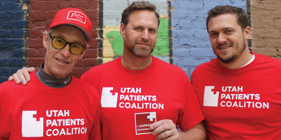 Utah Patients Coalition's Dave Karst, D.J. Schanz and Alex Iorg - RACHELLE FERNANDEZ