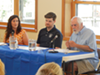 Salt Lake County Councilwoman Shireen Ghorbani (left), City Councilman Chris Wharton and the Crossroads Urban Center's Tim Funk.