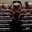 Enter to Win 2 Tix to The Depot's fall shows!