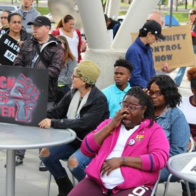 Patrick Harmon police-cam protest, Sept. 30, 2017