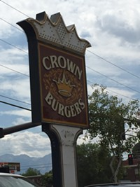 Crown Burger Restaurant in downtown Salt Lake City