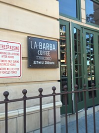 La Barba Coffee in downtown Salt Lake City