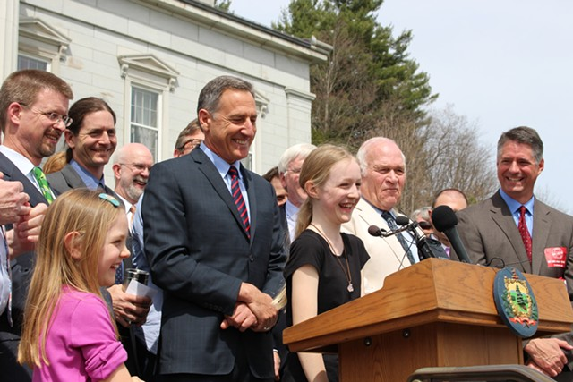 11-year-old Brigid Armbrust of West Hartford launched a letter-writing campaign in favor of GMO labeling. - PAUL HEINTZ