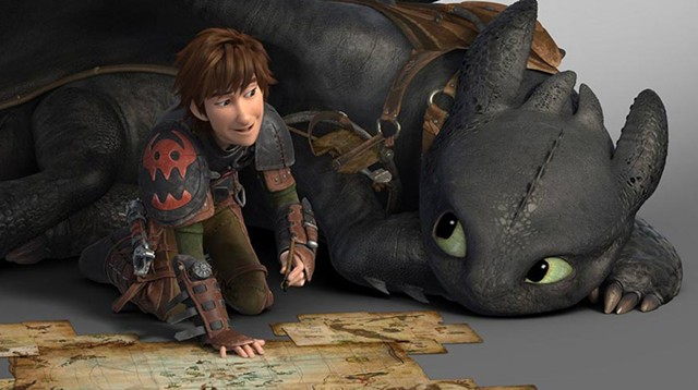 a boy and his dragon Toothless and Hiccup play explorer and find trouble in this DreamWorks sequel.