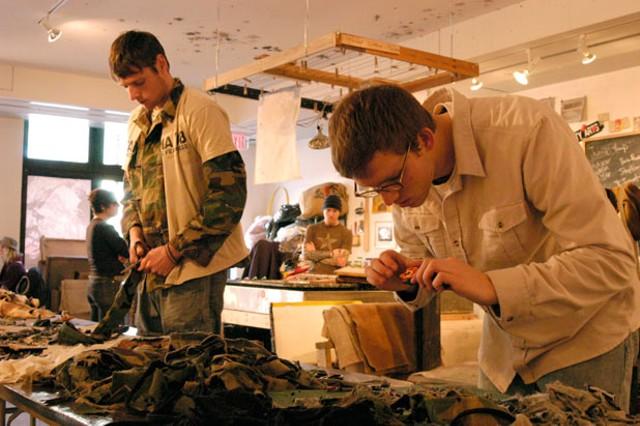 A Combat Paper papermaking workshop - MATTHEW THORSEN