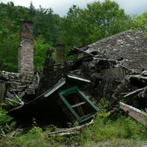 A house in the deserted village of Tahawus, N.Y.