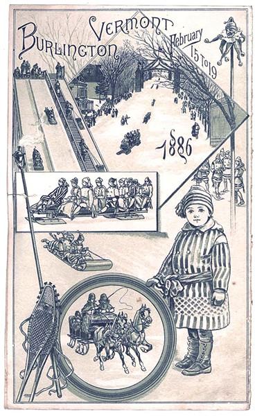 A print ad for the 1886 Burlington