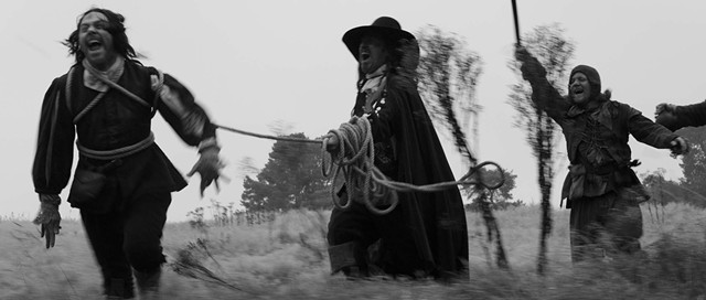 A psychedelic 17th-century rope parade (or something) in A Field in England, by Ben Wheatley