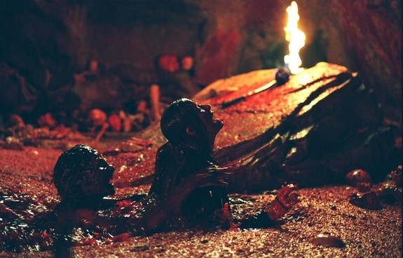 A rather nasty pit of gore in The Descent - LIONSGATE FILMS