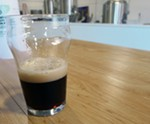 A sample of porter brewed with sour cherries - CORIN HIRSCH
