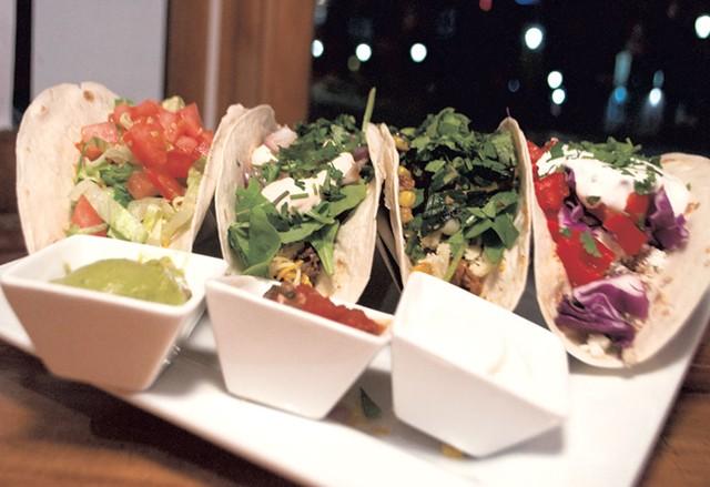 A selection of tacos at Two Brothers Tavern - HANNAH PALMER EGAN