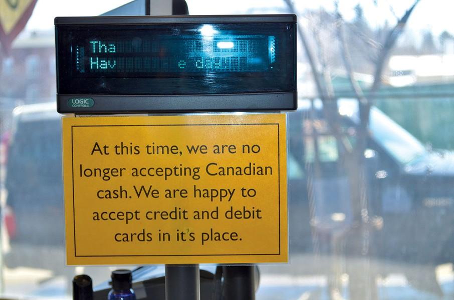 A sign at Newport Natural Market and Café - MOLLY WALSH