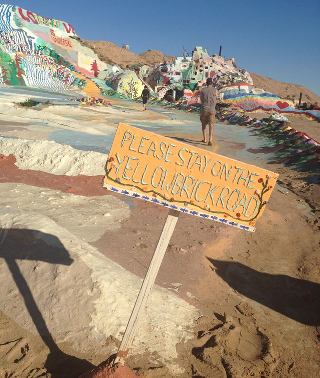 """A """"sign"""" on Salvation Mountain - PAULA ROUTLY"""