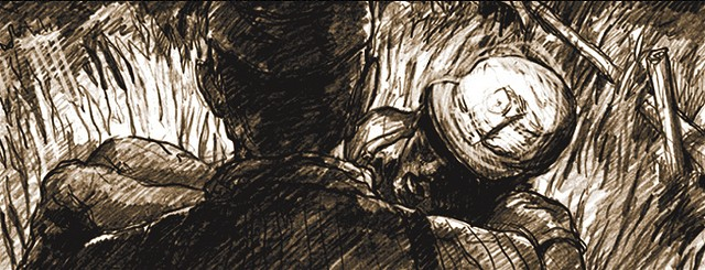 A still from the animatic of Black Canaries - BEN MACKEY / COURTESY JESSE KREITZER