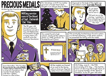 A Vermont Guardsman Reunites Purple Hearts With Their Recipients or Kin