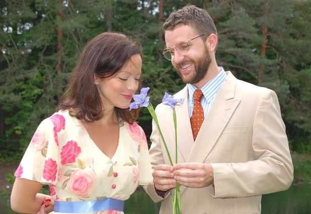 Abby Lee as Sally Talley and John Patrick Hayden as Matt Friedman
