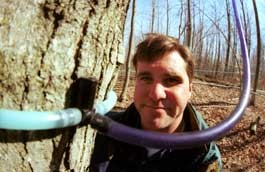 AGAINST THE FLOW? Shelburne sugarer Steve Palmer would like to see stricter labeling on maple syrup. - JORDAN SILVERMAN