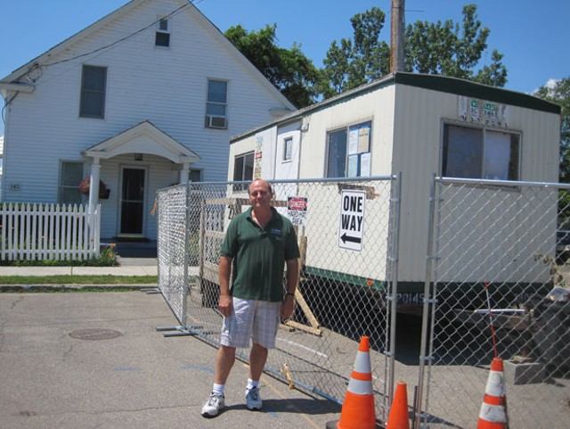 Alan Bjerke in front of his  home on Lakeview Terrace