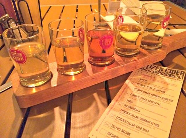 Cider flight, $7 - ALICE LEVITT