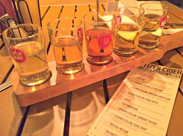 Cider flight, $7 - ALICE LEVITT