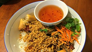 Bun thit nuong with cha gio
