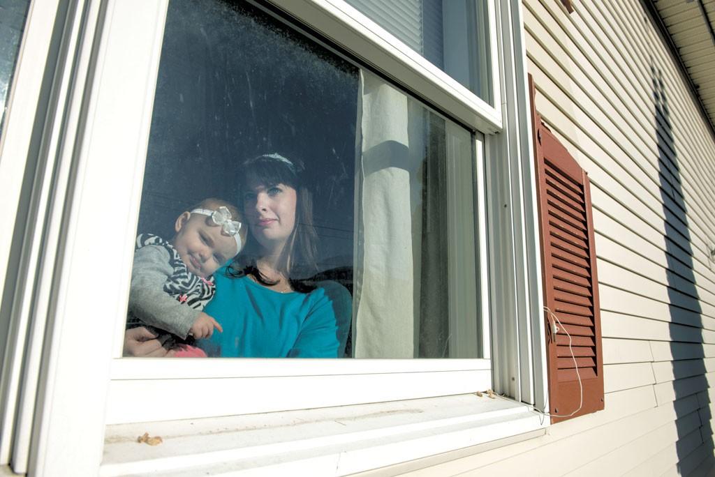 Alyssia Pelkey and her daughter Brooklyn - CALEB KENNA